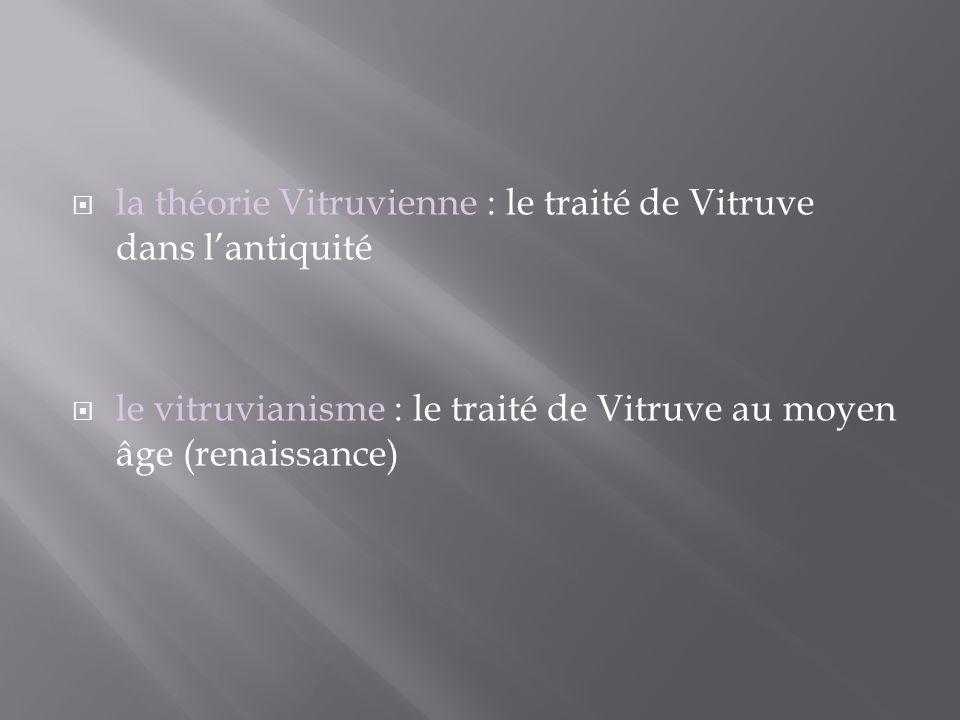 la théorie Vitruvienne : le traité de Vitruve dans l'antiquité