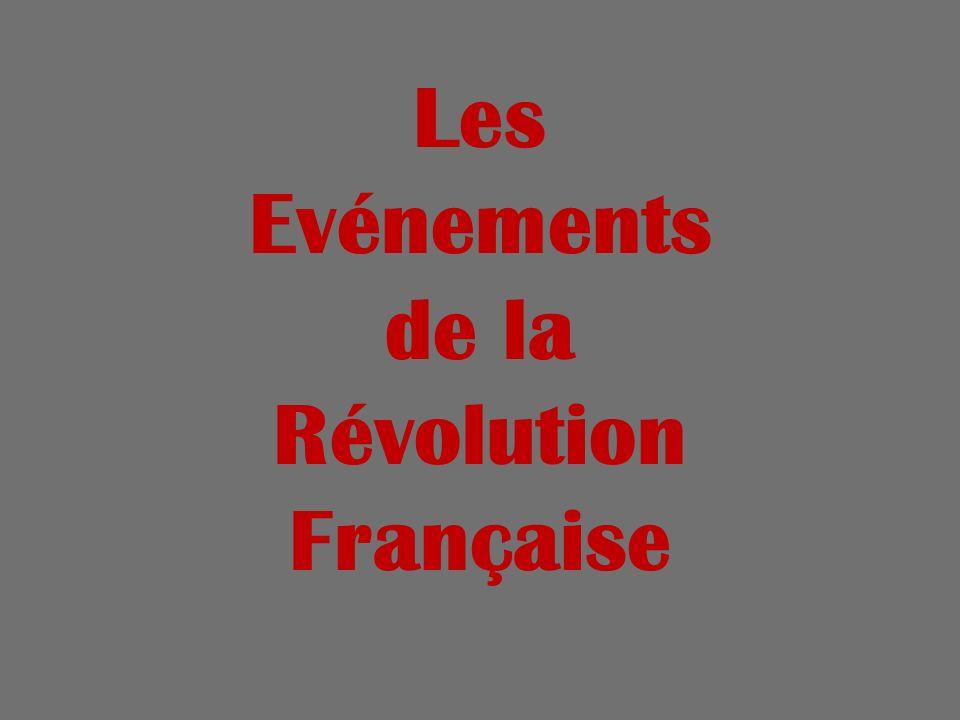 Les Evénements de la Révolution Française