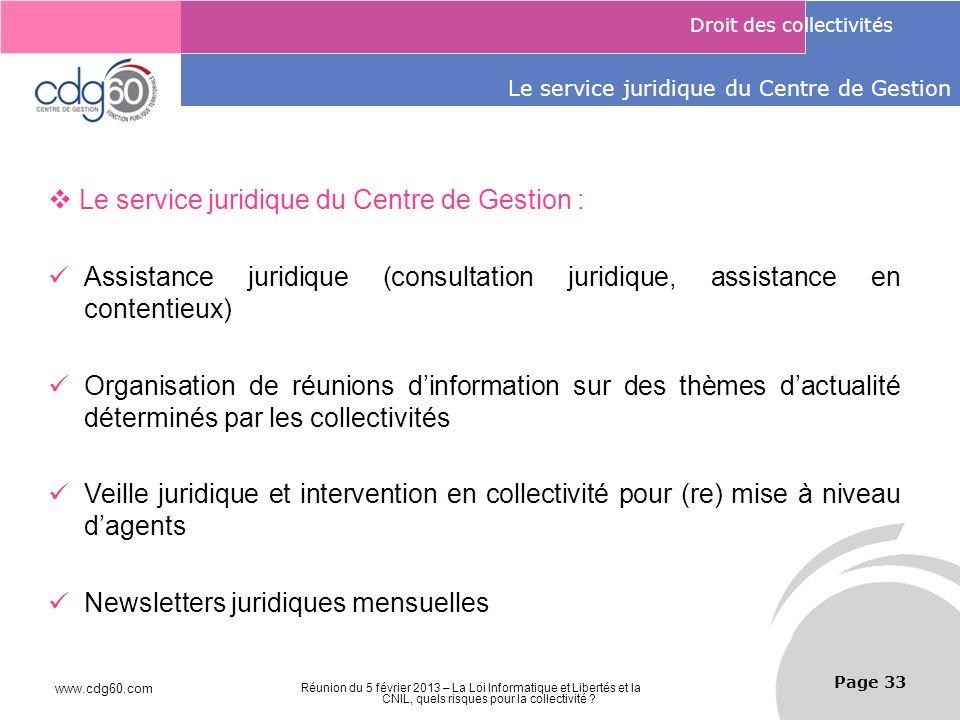 Le service juridique du Centre de Gestion