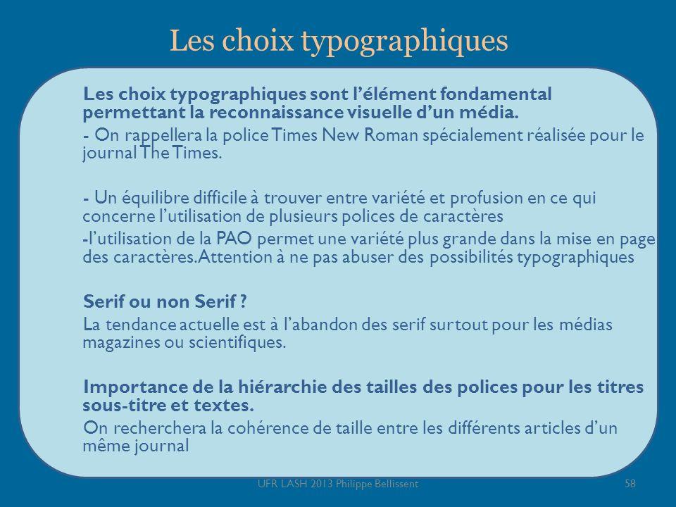 Les choix typographiques