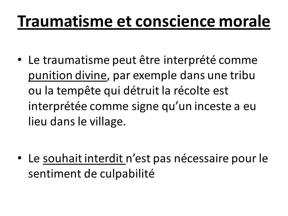 Traumatisme et conscience morale