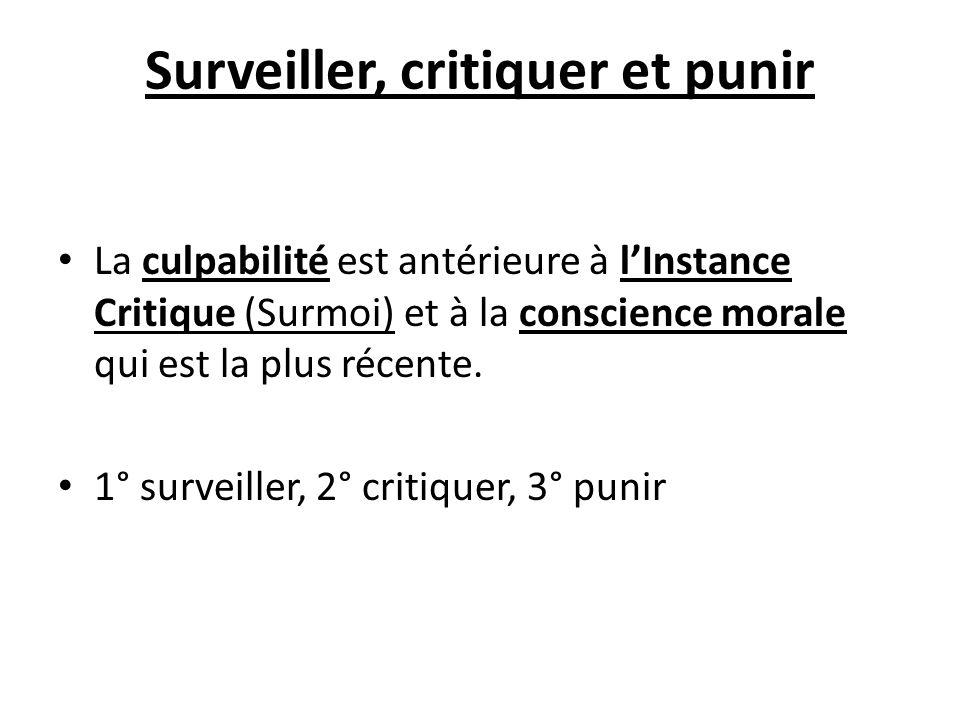 Surveiller, critiquer et punir