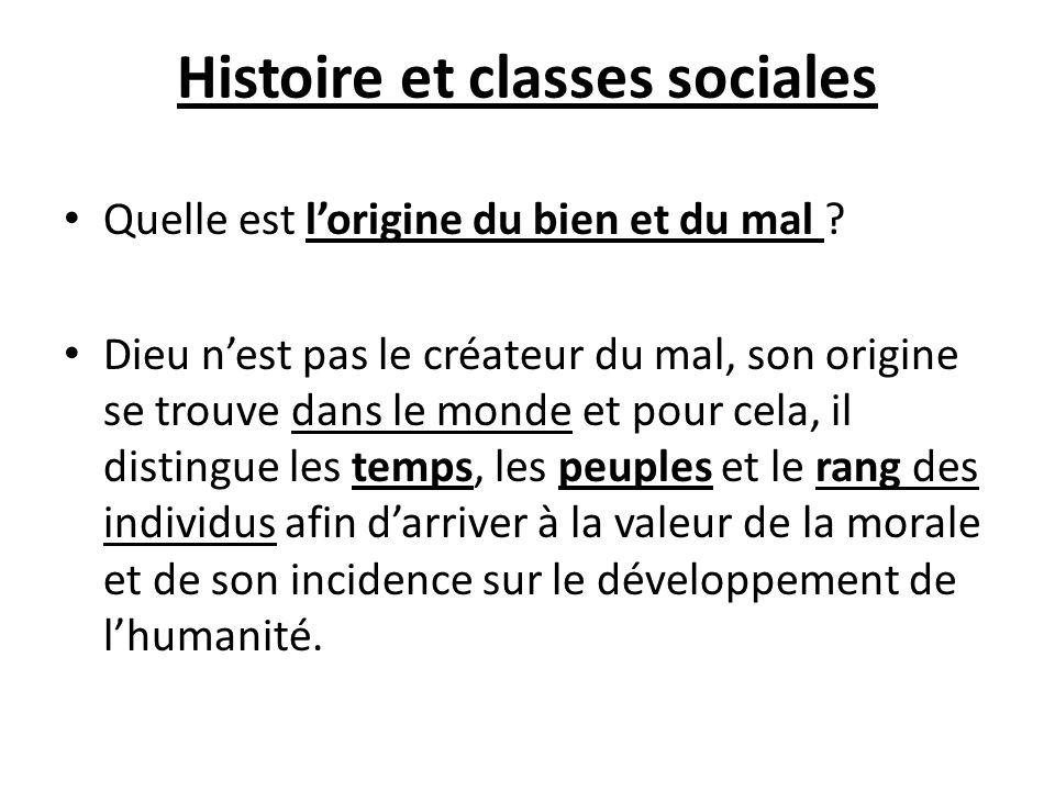 Histoire et classes sociales