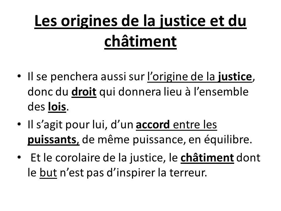 Les origines de la justice et du châtiment