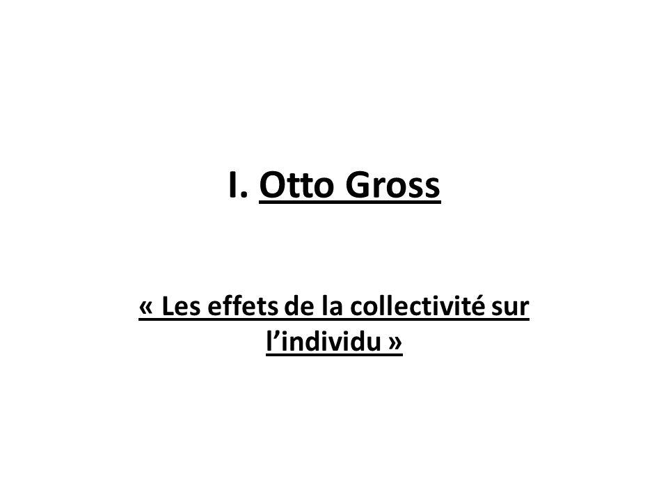 « Les effets de la collectivité sur l'individu »