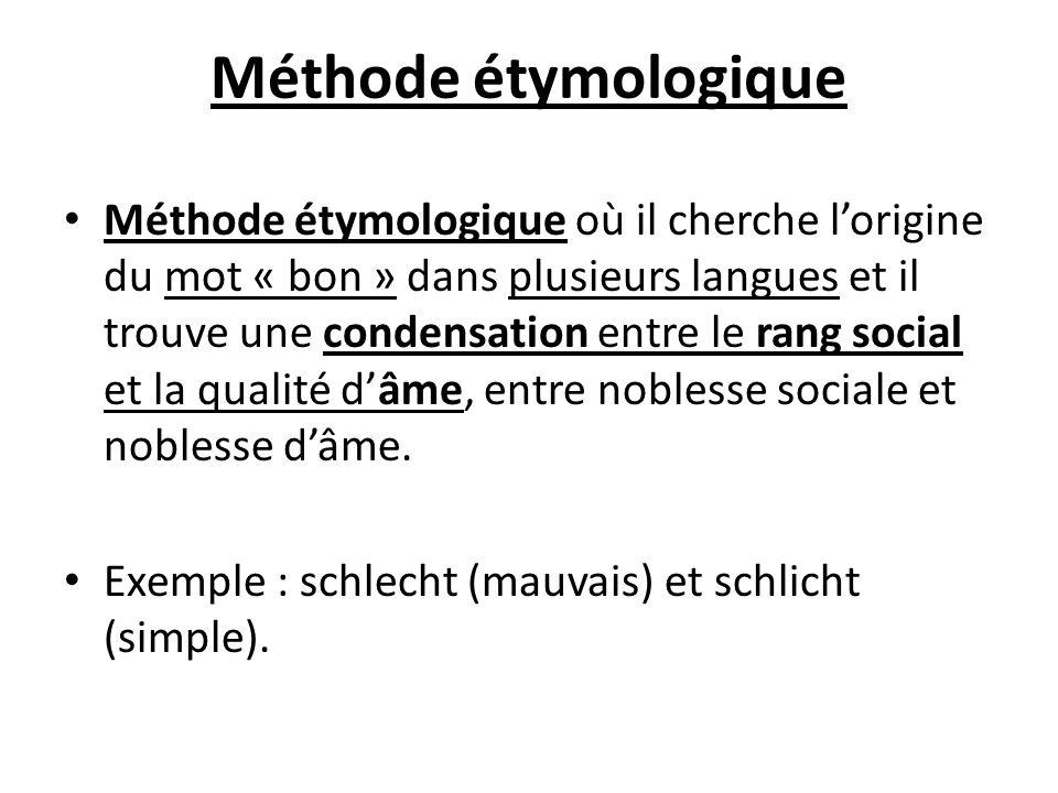 Méthode étymologique