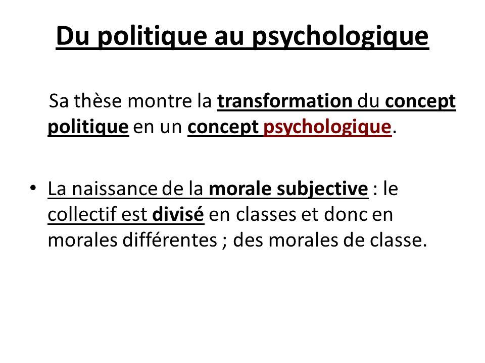 Du politique au psychologique