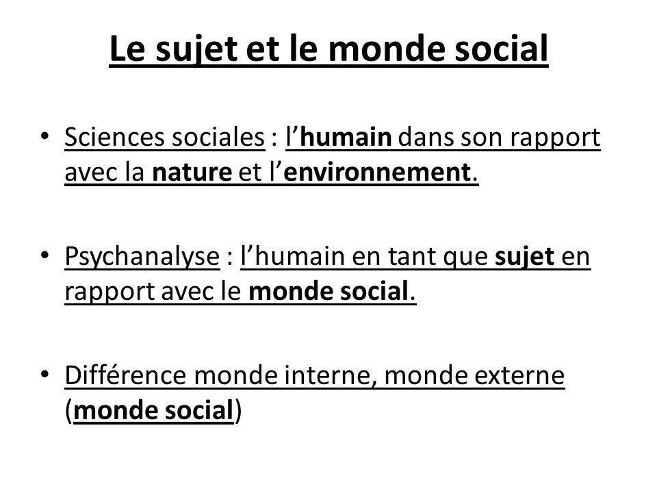 Le sujet et le monde social
