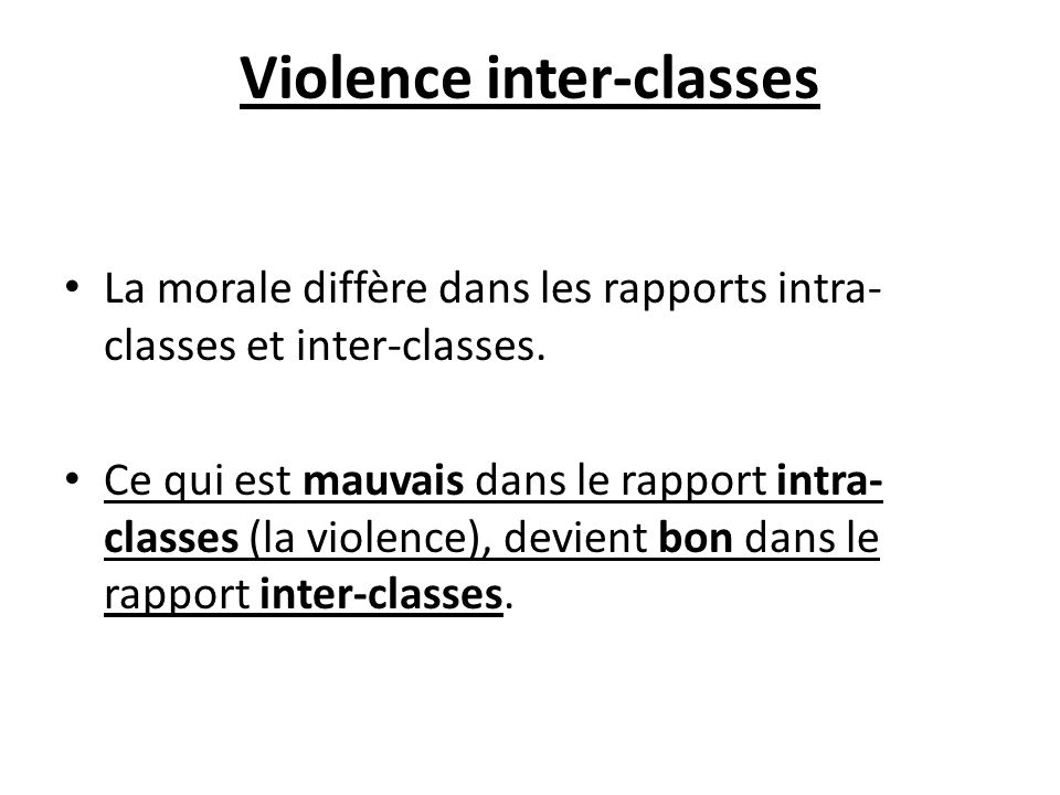 Violence inter-classes