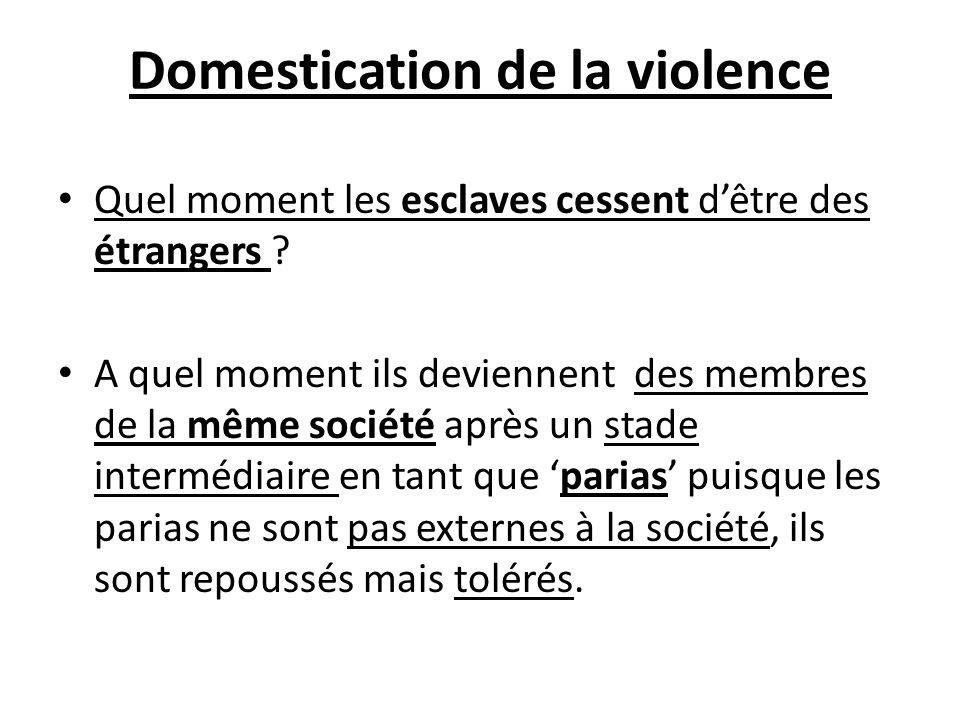 Domestication de la violence