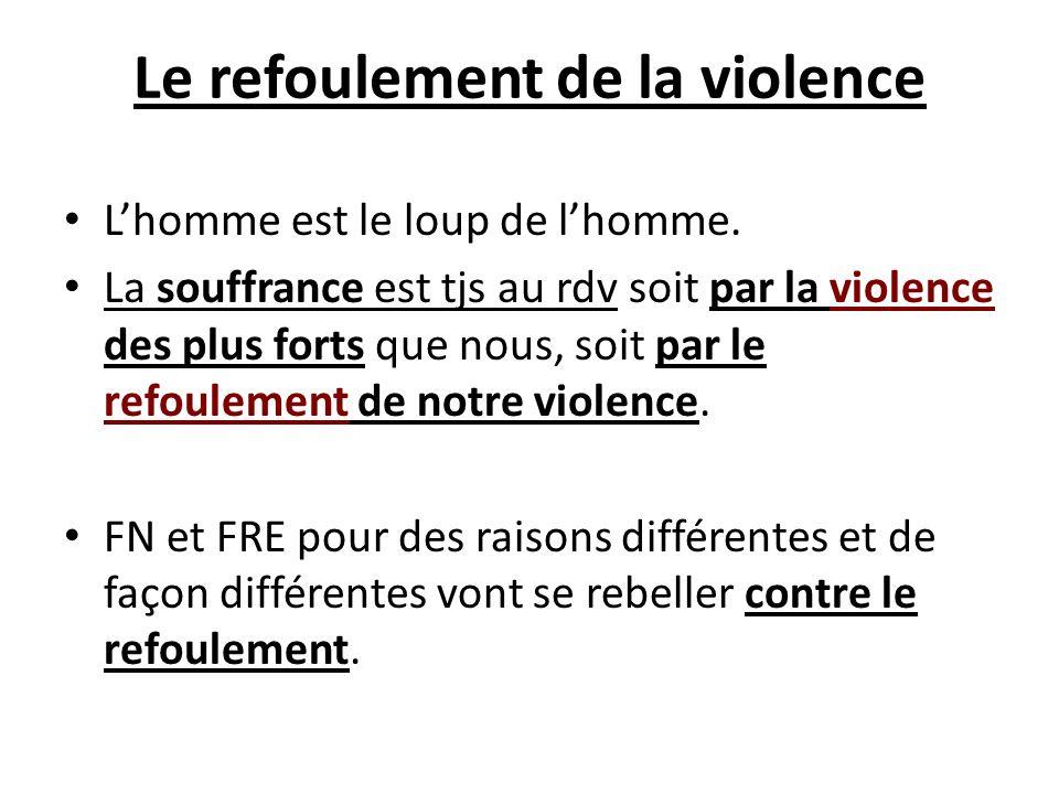 Le refoulement de la violence