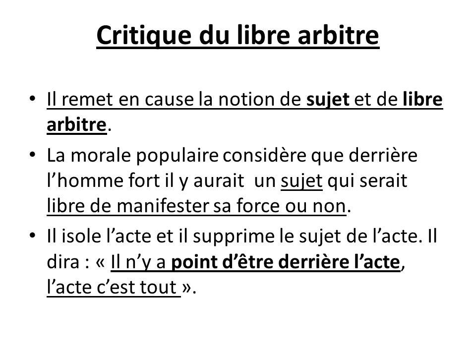 Critique du libre arbitre