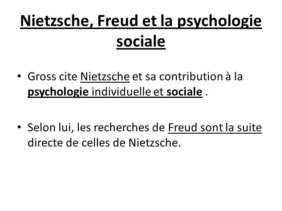 Nietzsche, Freud et la psychologie sociale