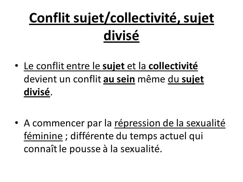 Conflit sujet/collectivité, sujet divisé