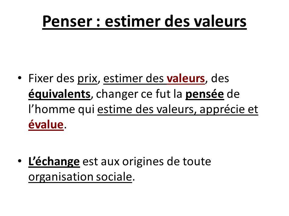 Penser : estimer des valeurs