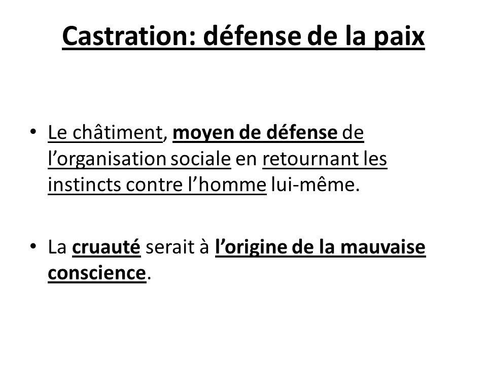 Castration: défense de la paix