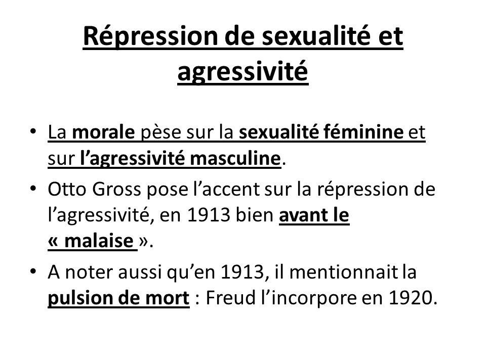 Répression de sexualité et agressivité