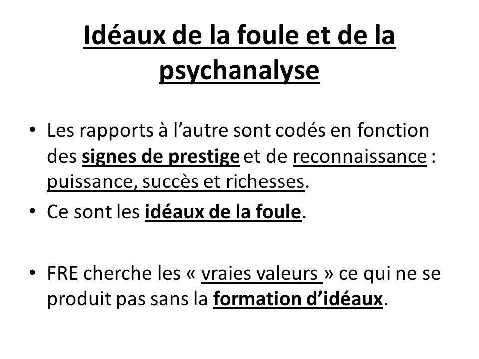 Idéaux de la foule et de la psychanalyse