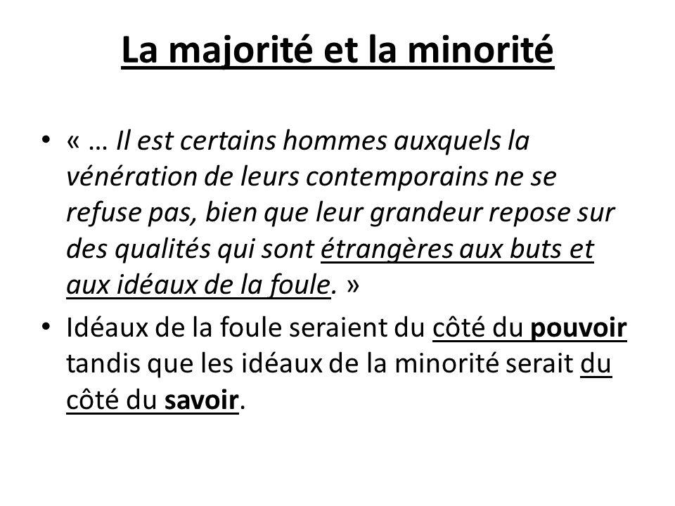 La majorité et la minorité