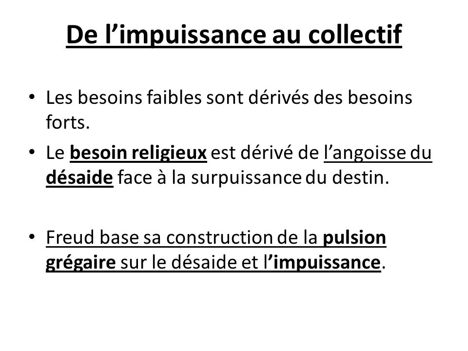 De l'impuissance au collectif