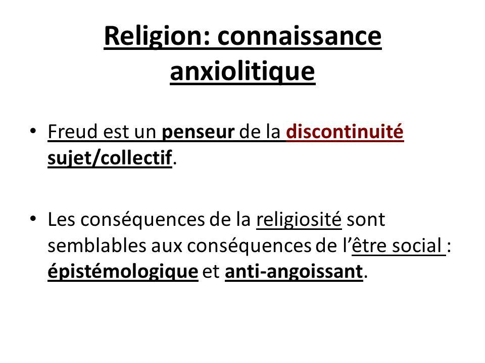 Religion: connaissance anxiolitique
