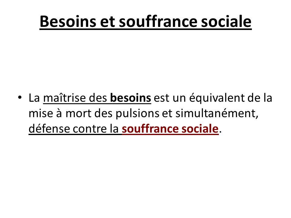 Besoins et souffrance sociale