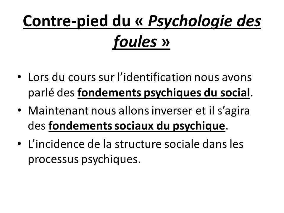 Contre-pied du « Psychologie des foules »