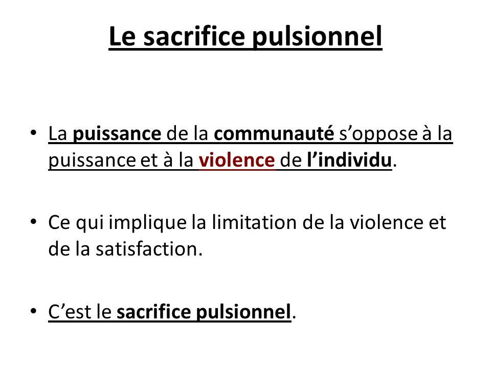 Le sacrifice pulsionnel
