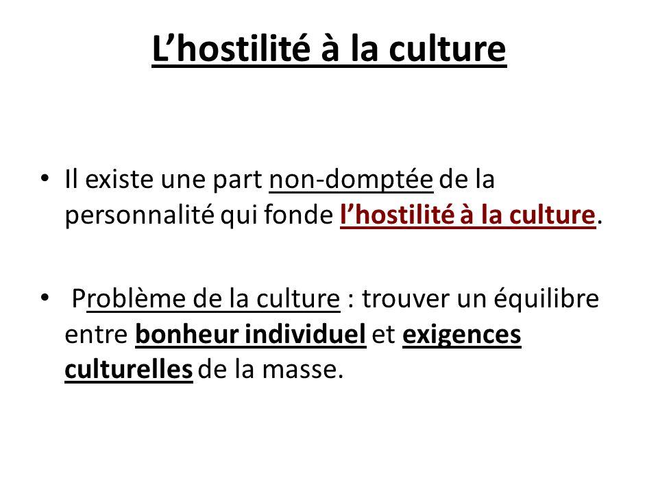 L'hostilité à la culture