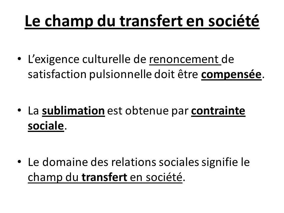 Le champ du transfert en société