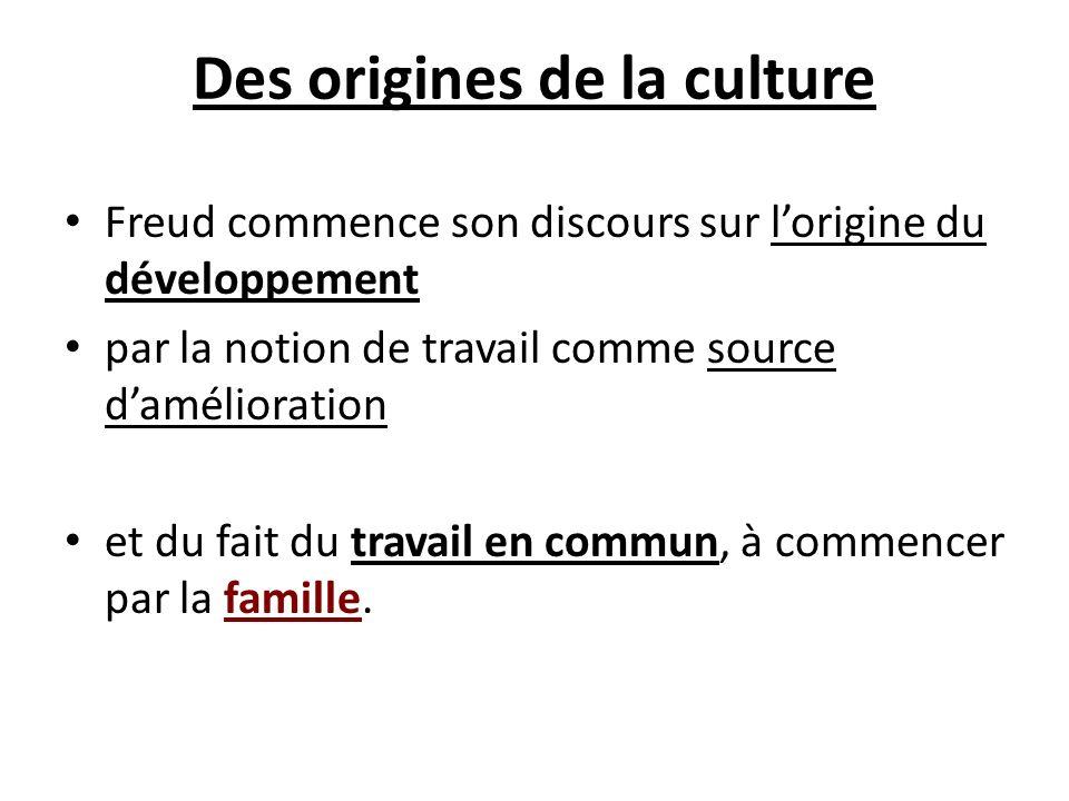Des origines de la culture
