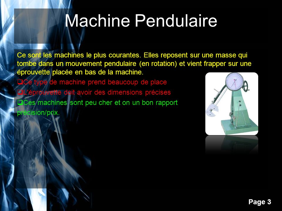 Machine Pendulaire