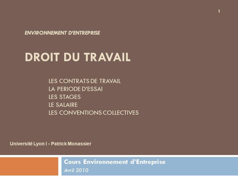 Cours Environnement d'Entreprise Avril 2010
