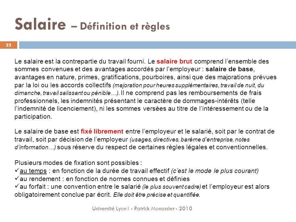 Salaire – Définition et règles