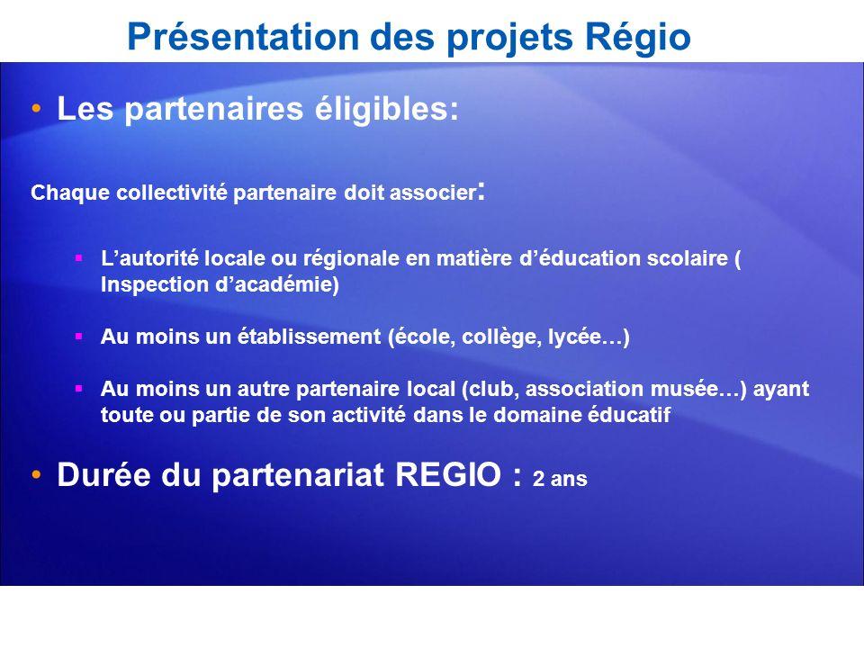 Présentation des projets Régio