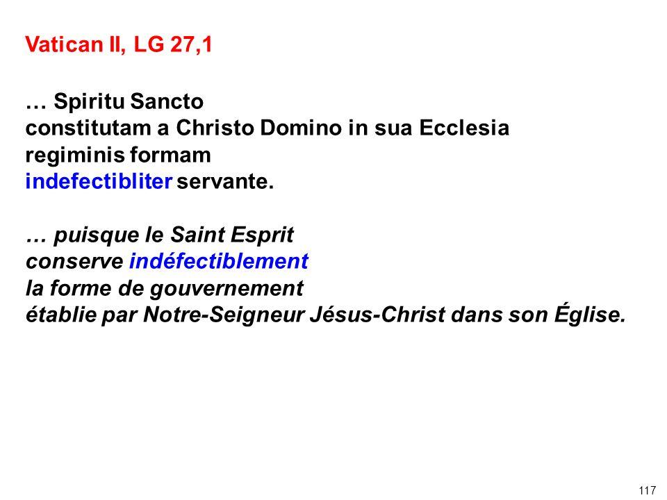 constitutam a Christo Domino in sua Ecclesia regiminis formam