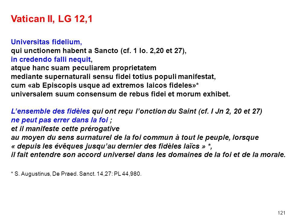 Vatican II, LG 12,1 Universitas fidelium,