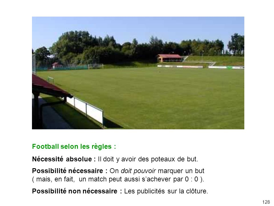 Football selon les règles :