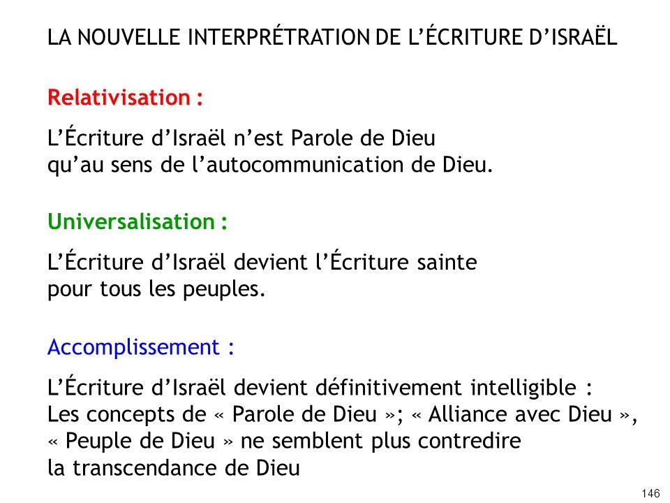 LA NOUVELLE INTERPRÉTRATION DE L'ÉCRITURE D'ISRAËL