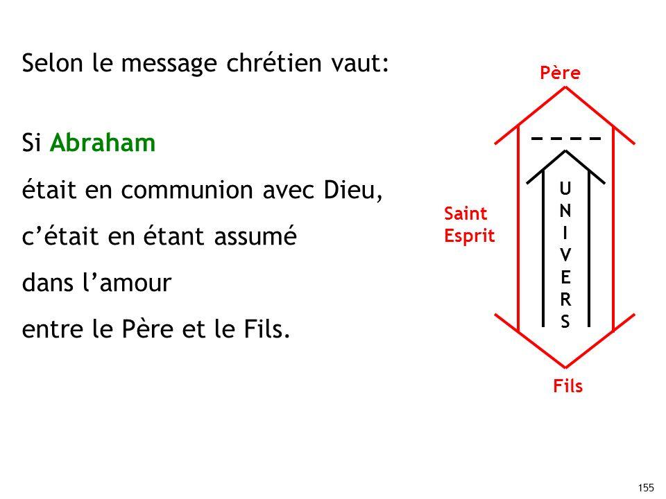 Selon le message chrétien vaut: Si Abraham