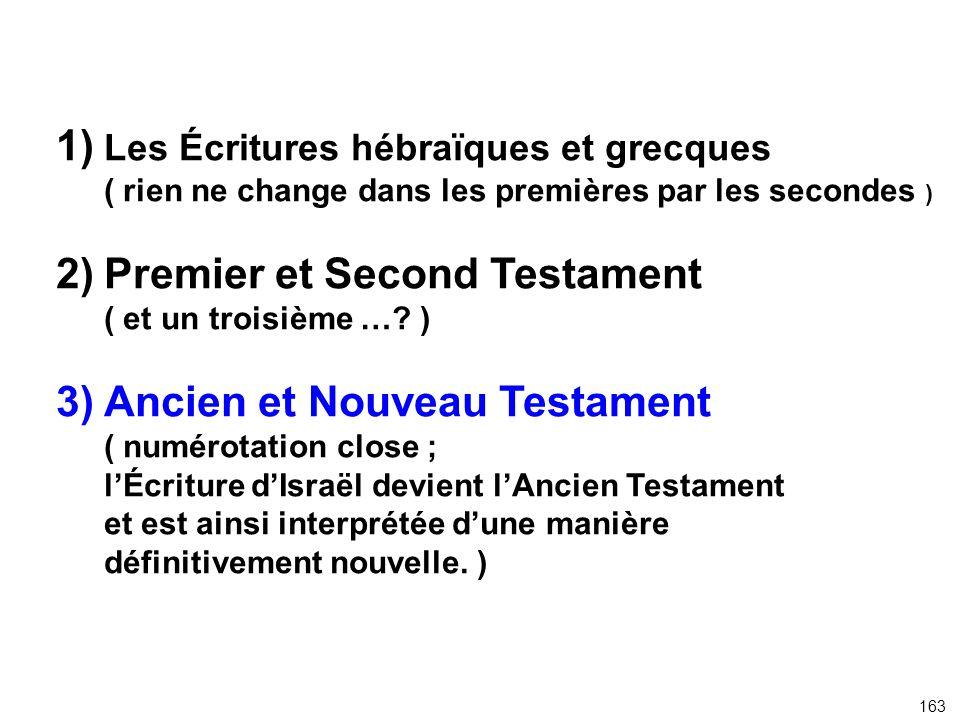 1) Les Écritures hébraïques et grecques
