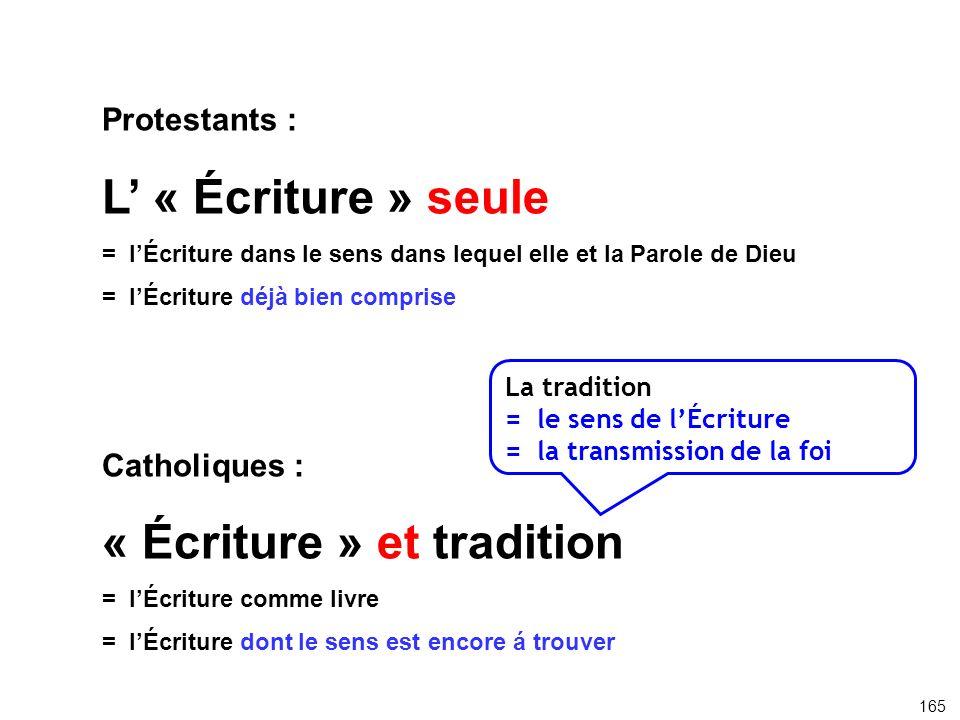 « Écriture » et tradition