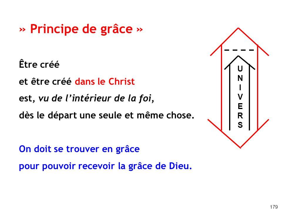 » Principe de grâce » Être créé et être créé dans le Christ