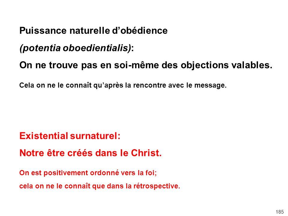 Puissance naturelle d'obédience (potentia oboedientialis):