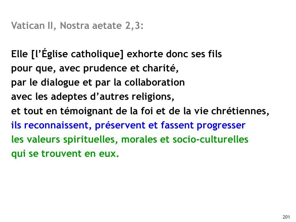 Vatican II, Nostra aetate 2,3: