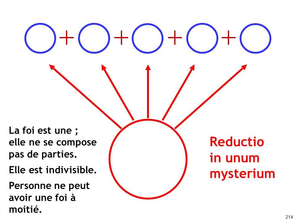 Reductio in unum mysterium