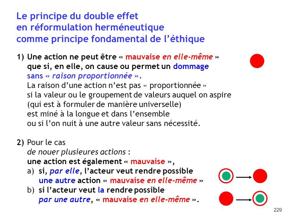 Le principe du double effet en réformulation herméneutique