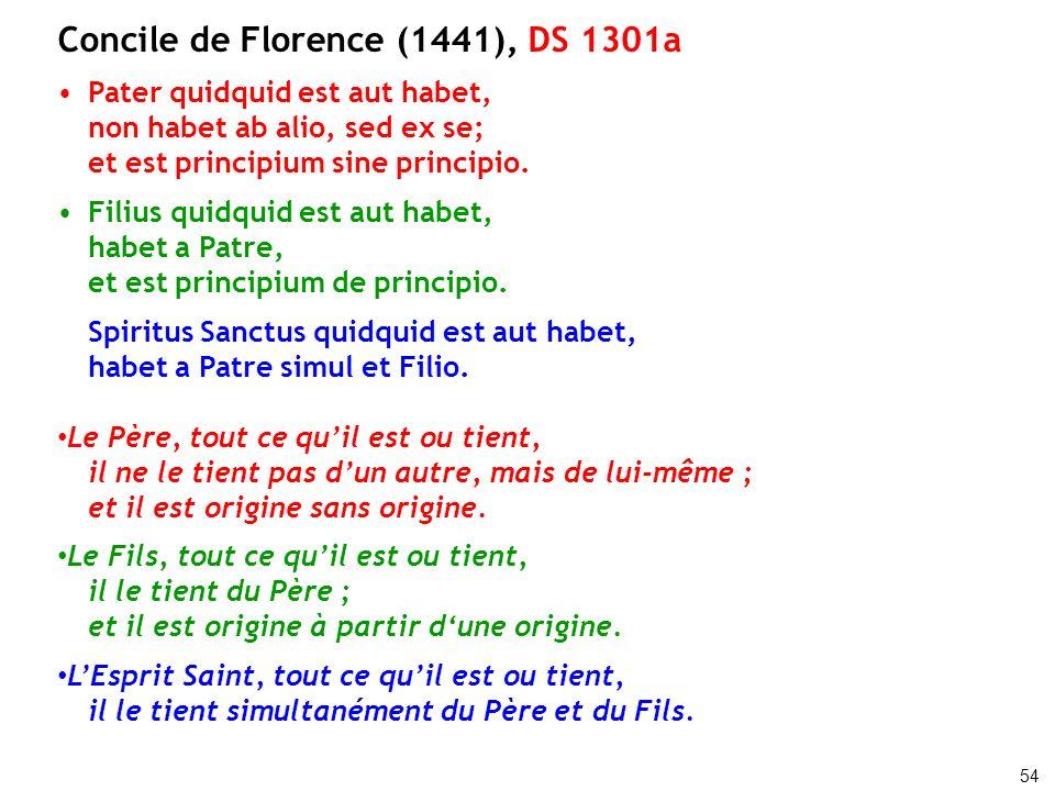 Concile de Florence (1441), DS 1301a