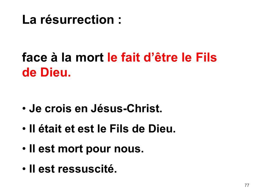 face à la mort le fait d'être le Fils de Dieu.