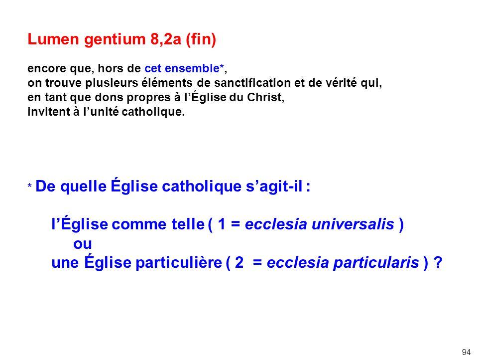 l'Église comme telle ( 1 = ecclesia universalis ) ou